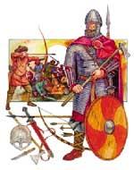 Викинг с оружием