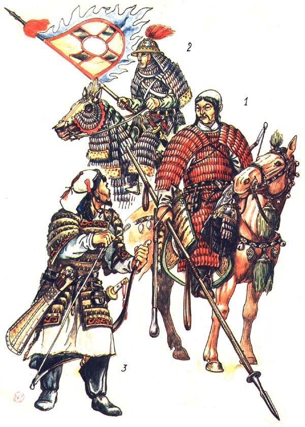 Китайские и монгольский воины