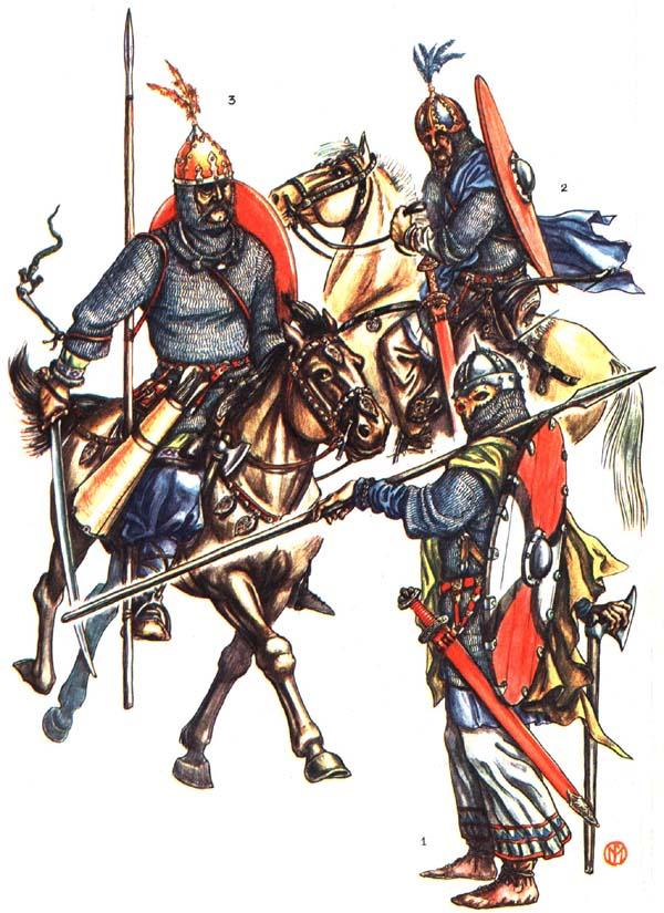 Викинг и русские воины