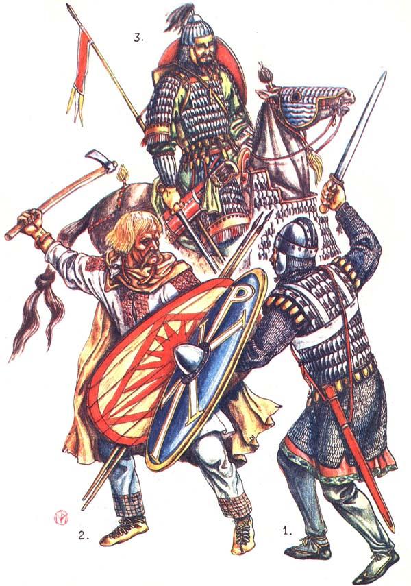 Византиец, славянин, авар