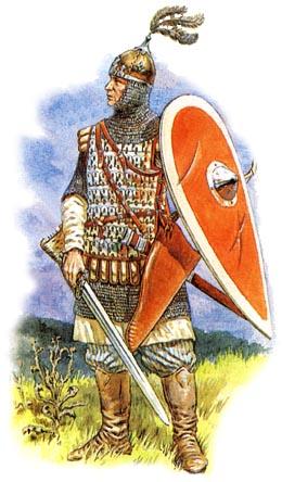 Княжеский дружинник XI века,художник И. Дзысь